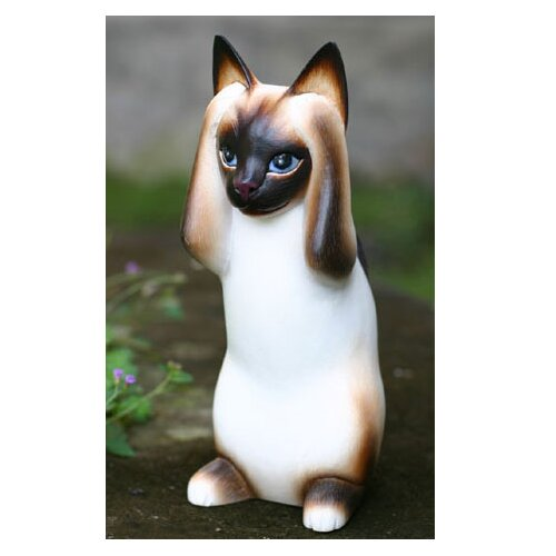 Novica 'Hear No Evil Siamese Cat' Figurine
