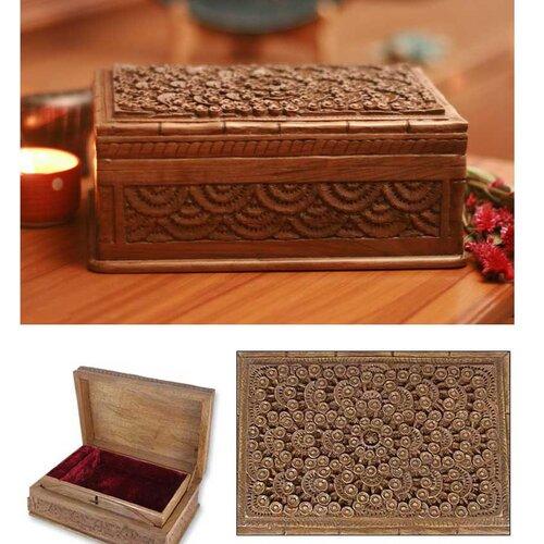 Novica Walnut Forest Jewelry Box