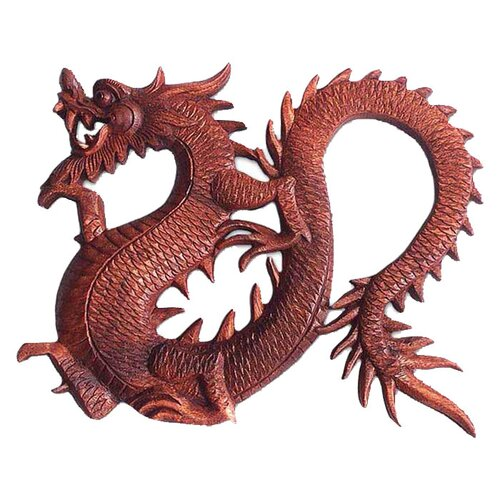 Novica 'Fiery Dragon' Wall Décor