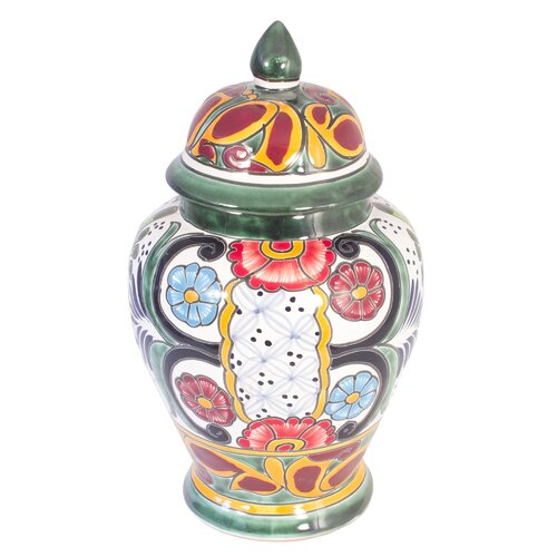 Novica Castillo Family Artisan Enchanted Flowers Ceramic Vase