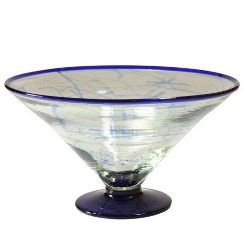 Cantel Blown Glass Artisans Decorative Glass Centerpiece