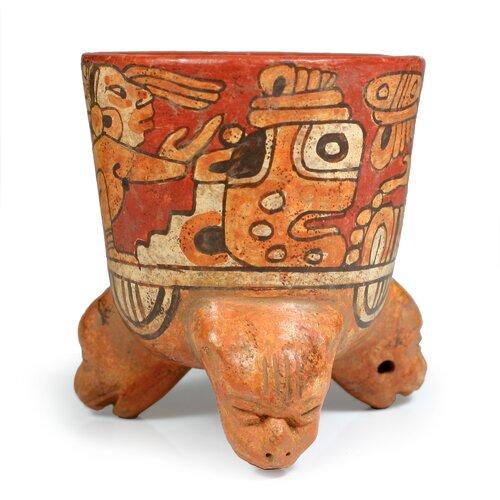 Novica Oscar Rodolfo Mendoza Artisan Maya Divinity Ceramic Vessel