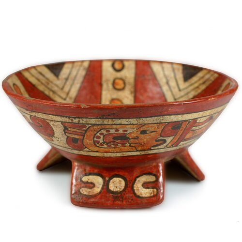 Oscar Rodolfo Mendoza Artisan Fruit of The Maya Ceramic Centerpiece