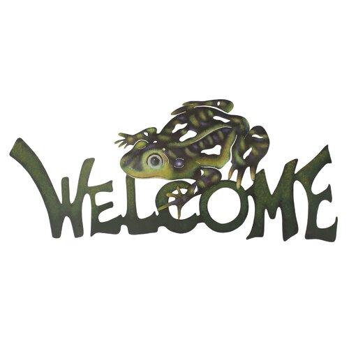 Novica The Alejandro de Esesarte Frog Prince Welcome Sign Wall Décor