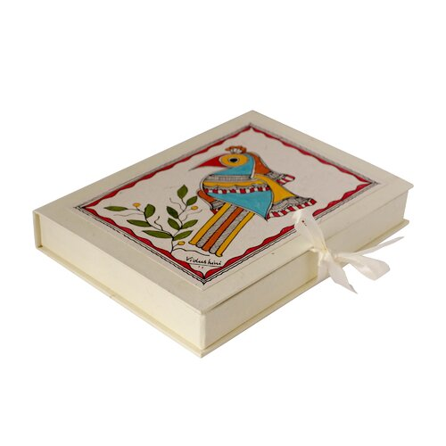 Novica The Vidushini Artisan Birds Of Bihar Madhubani Greeting Card