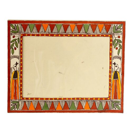 Novica Vidushini Artisan Village In India Madhubani Photo Frame