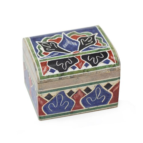 The Claudinho Artisan Amazon Forest Soapstone Box