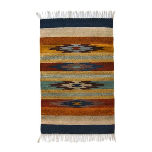 Novica Stars on the Horizon Zapotec Rug