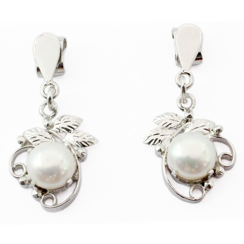 The Parul Artisan Cultured Pearl Dream Flower Dangle Earrings