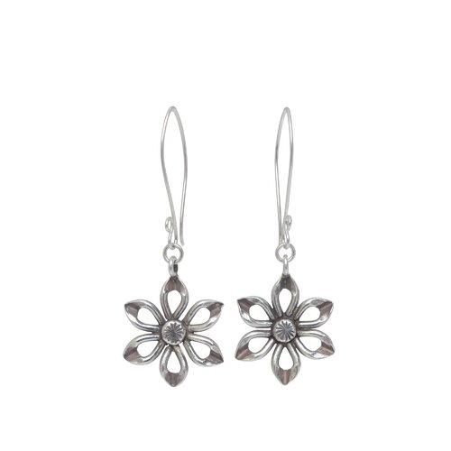 The Achara Artisan Sterling Silver Chiang Rai Lily Flower Earrings