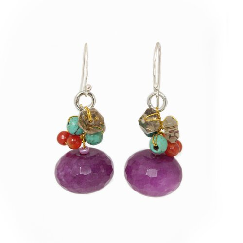 The Nareerat Artisan Carnelian Chiang Rai Feast Cluster Earrings