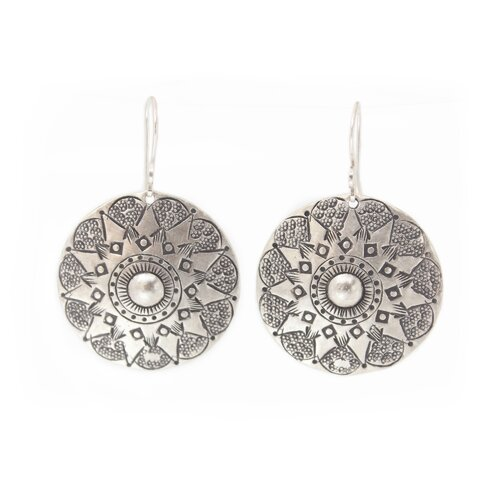 The Achara Artisan Lampang Moon Dangle Earrings