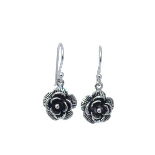 The Wadarat Supasirisuk Artisan Loy Kratong Rose Flower Earrings