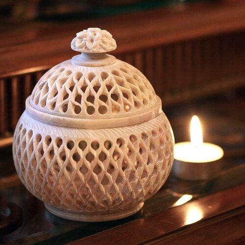 Novica Lattice Lace Jar