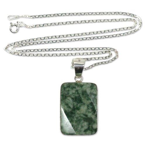The Zandra Lorena Sajbin Sterling Silver Jade Pendant Necklace