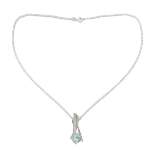 The Alok Jain Sterling Silver Topaz Pendant Necklace