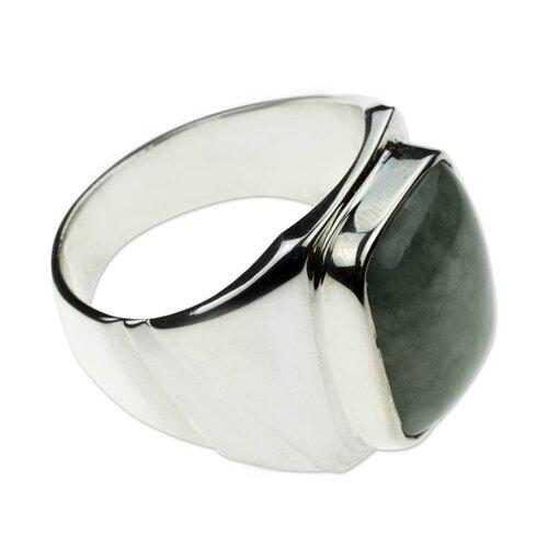 The Gabriel Silva Men's Sterling Silver Jade Ring