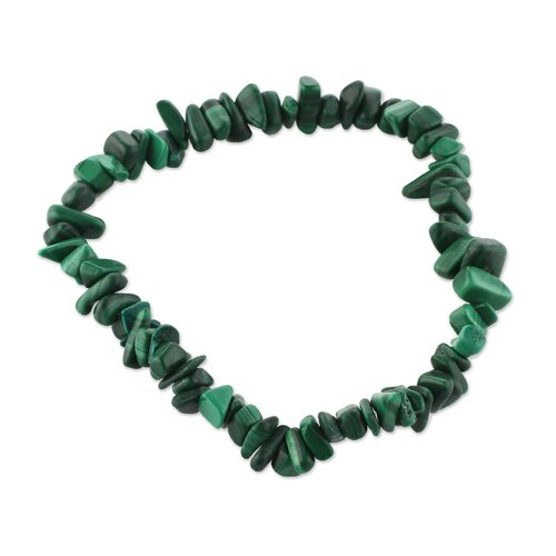 The Teodoro Melendez and Family Malachite Stretch Bracelet