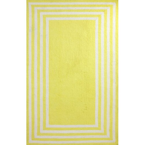 Block Yellow Island Klauss Faux Rug