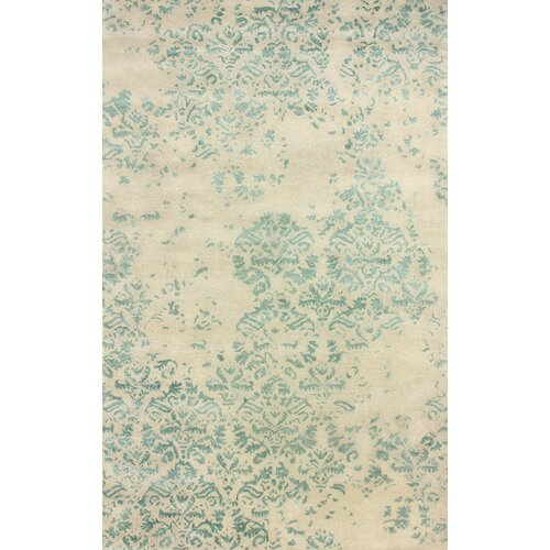 Filigree Green Faded Trellis Rug
