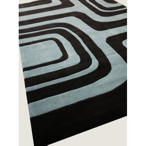 nuLOOM Pop Maze Chocolate Blue Rug