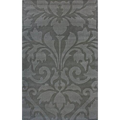 Gradient Damask Grey Rug