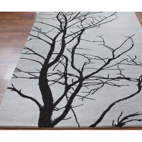nuLOOM Pop Tree Branches Grey Rug