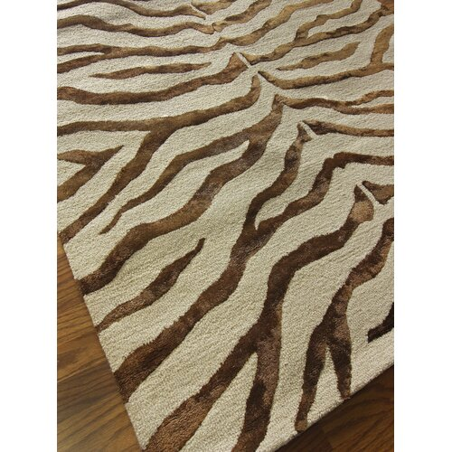 Earth Safari Zebra Print With Faux Silk Highlights Area