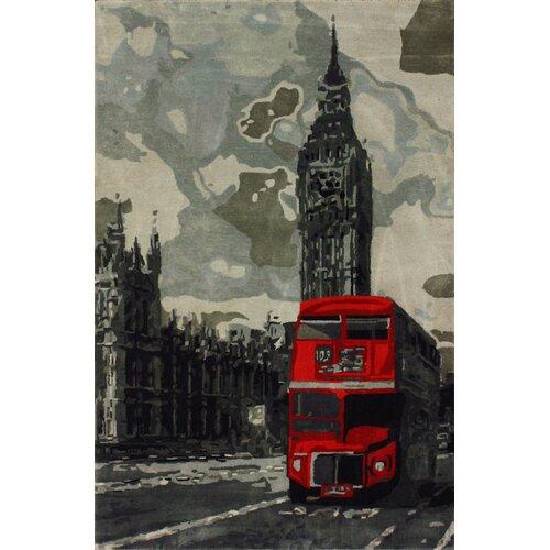 Sovereign Grey London Bus Novelty Rug