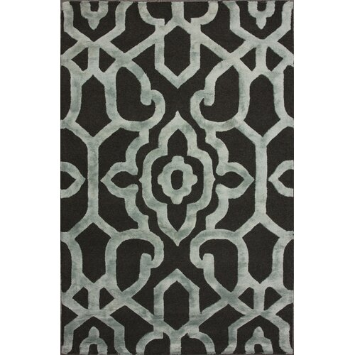 Fancy Grey Ornate Trellis Rug