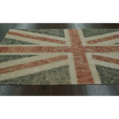nuLOOM Natura Blue Union Jack Stripes Novelty Rug