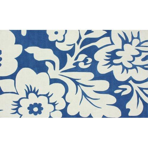 nuLOOM Cine Blue Flora Rug