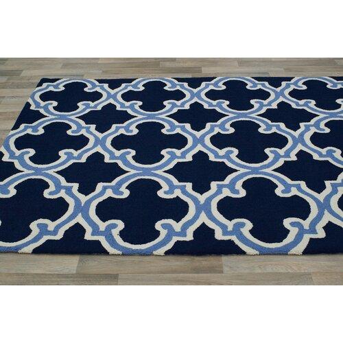 trellis navy white area rug wayfair