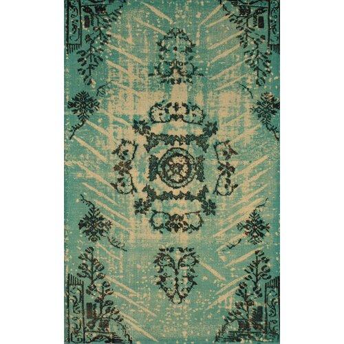 nuLOOM Natural Turquoise Kolor Rug