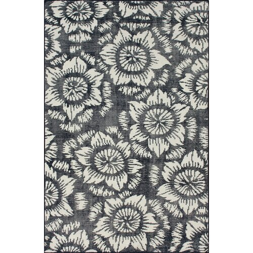 Overdye Navy Water Lily Rug