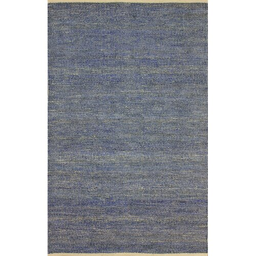 Brilliance Blue Solid Border Rug
