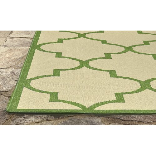 nuLOOM Villa Outdoor Green Double Trellis Rug