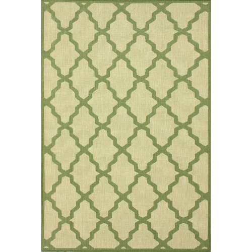 Villa Outdoor Green Trellis Rug