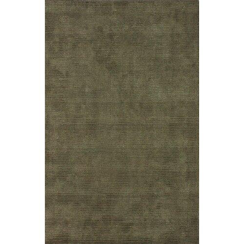 Tulon Olive Cero Wool and Silk-like Viscose Rug