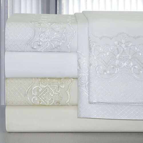 Pointehaven Bridal Lace 300 Thread Count Sheet Set