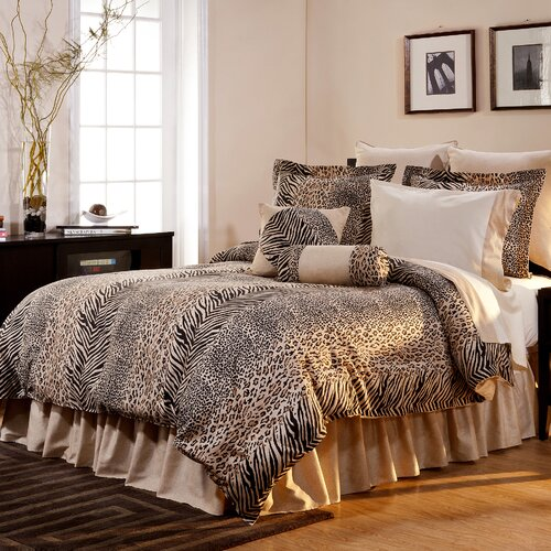 Pointehaven Luxury 8 Piece Animal Print Comforter Set