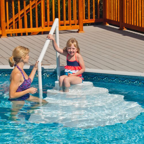 Blue Wave Wedding Cake Pool Step For Above Ground Pool Reviews Wayfair