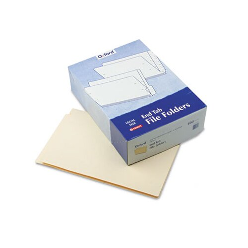End Tab Folders, Straight Cut, Two Ply, 9 1/2