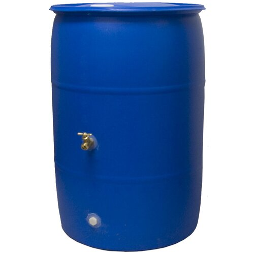 Good Ideas Rain Wizard Big Blue 55 Gallon Rain Barrel