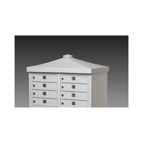 Architectural Mailboxes CBU Decorative Option Cap with Flat Finial