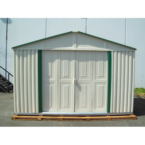 "Duramax Building Products Teton 10'6.38"" W x 5'11.85"" D Vinyl Garage Shed"