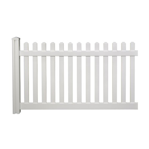 Wam Bam Fence CO. Traditional 4' x 7' Classic Picket Fence