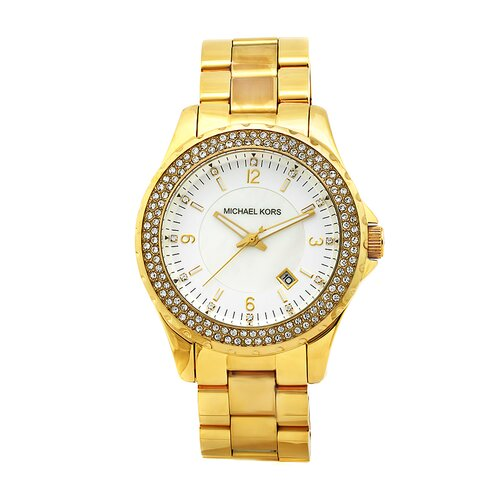 Women's Goldtone Watch with Crystal Dial