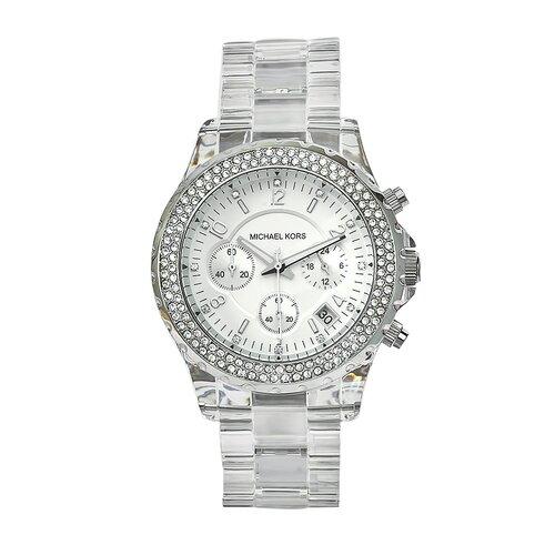 Michael Kors Women's Clear Plastic Watch