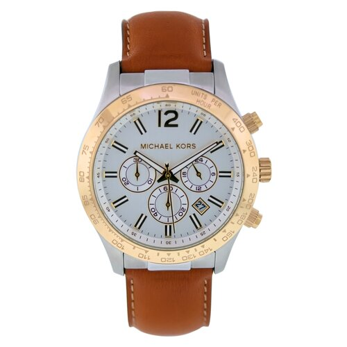 Michael Kors Men's Classic Watch with White Chronograph Dial